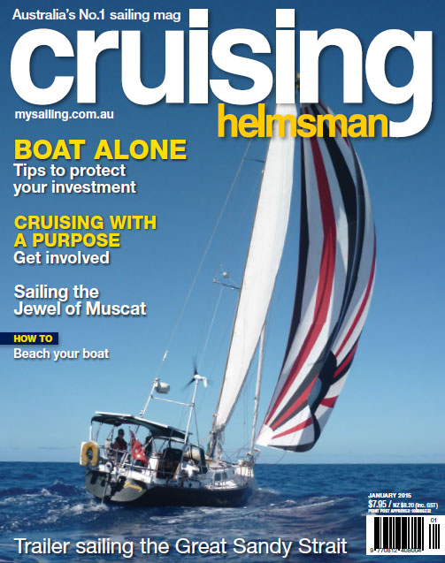 Kate on the cover of Cruising Helmsman~