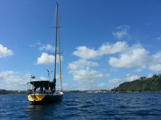 On the mooring at the Port Villa Boatyard