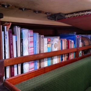 The cookbook shelf onboard
