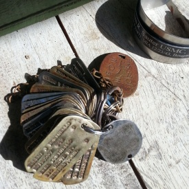 American and Japanese dogtags