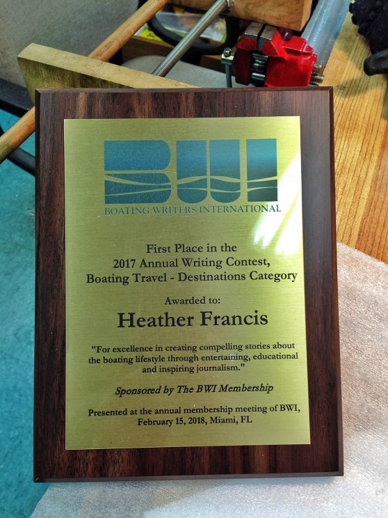 Heather Francis, Boat Writers International Writing Contest Winner, Travel & Destination